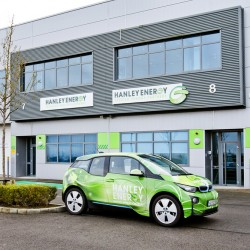 Head Office, Ireland with BMW i3 electric car