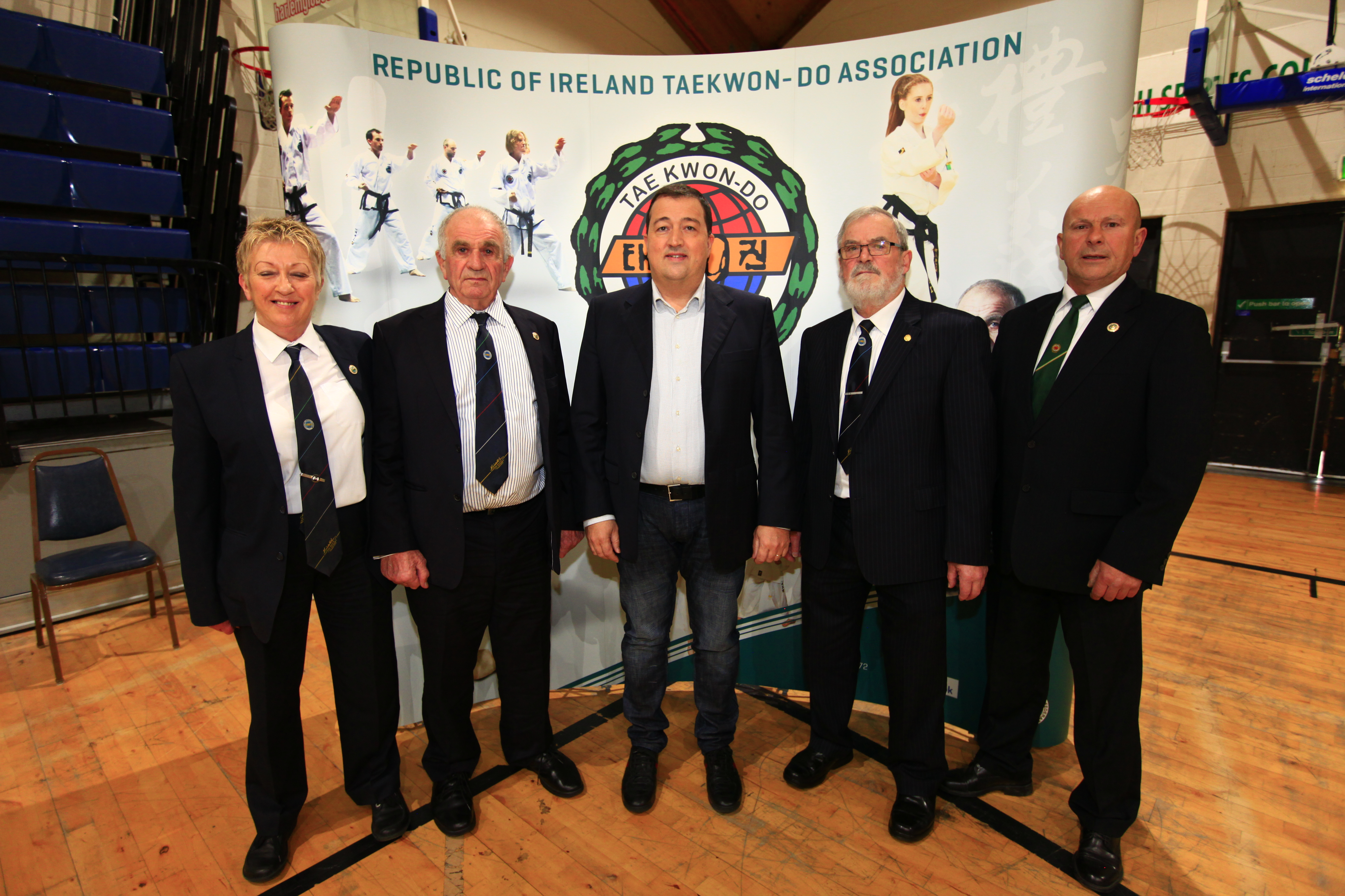 Left to right. Master Valerie Keane, Grandmaster Robert Howard, Hanley Energy Co-founder & Managing Director Dennis Nordon, Grandmaster Anthony Phelan, Master Francis Barrett