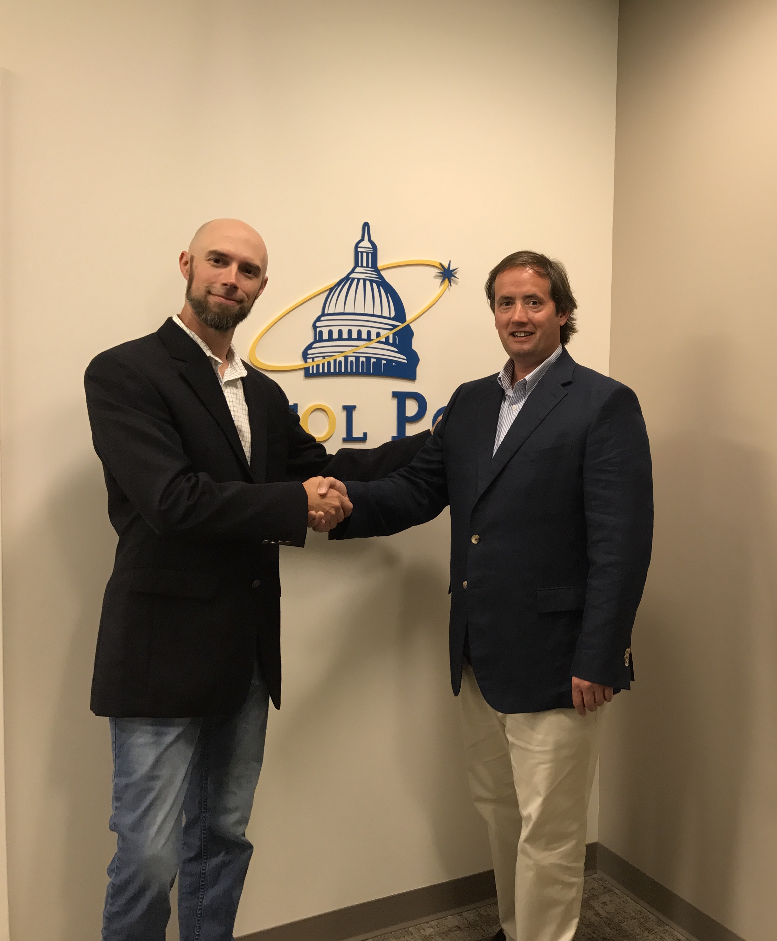 Terry Davies, Vice President - Special Projects, Capitol Power Group and Clive Gilmore, CEO and Co-founder, Hanley Energy LLC agree a Strategic Partnership to Deliver Next Generation Critical Power Solutions.