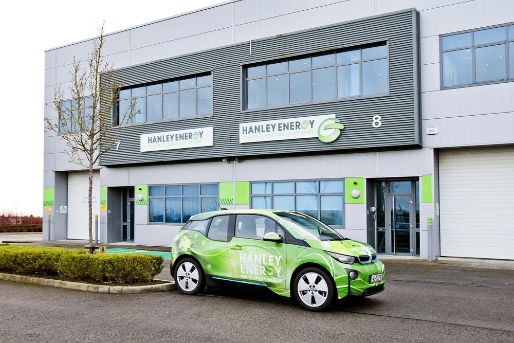 Head Office, Ireland with BMW i3 electric car