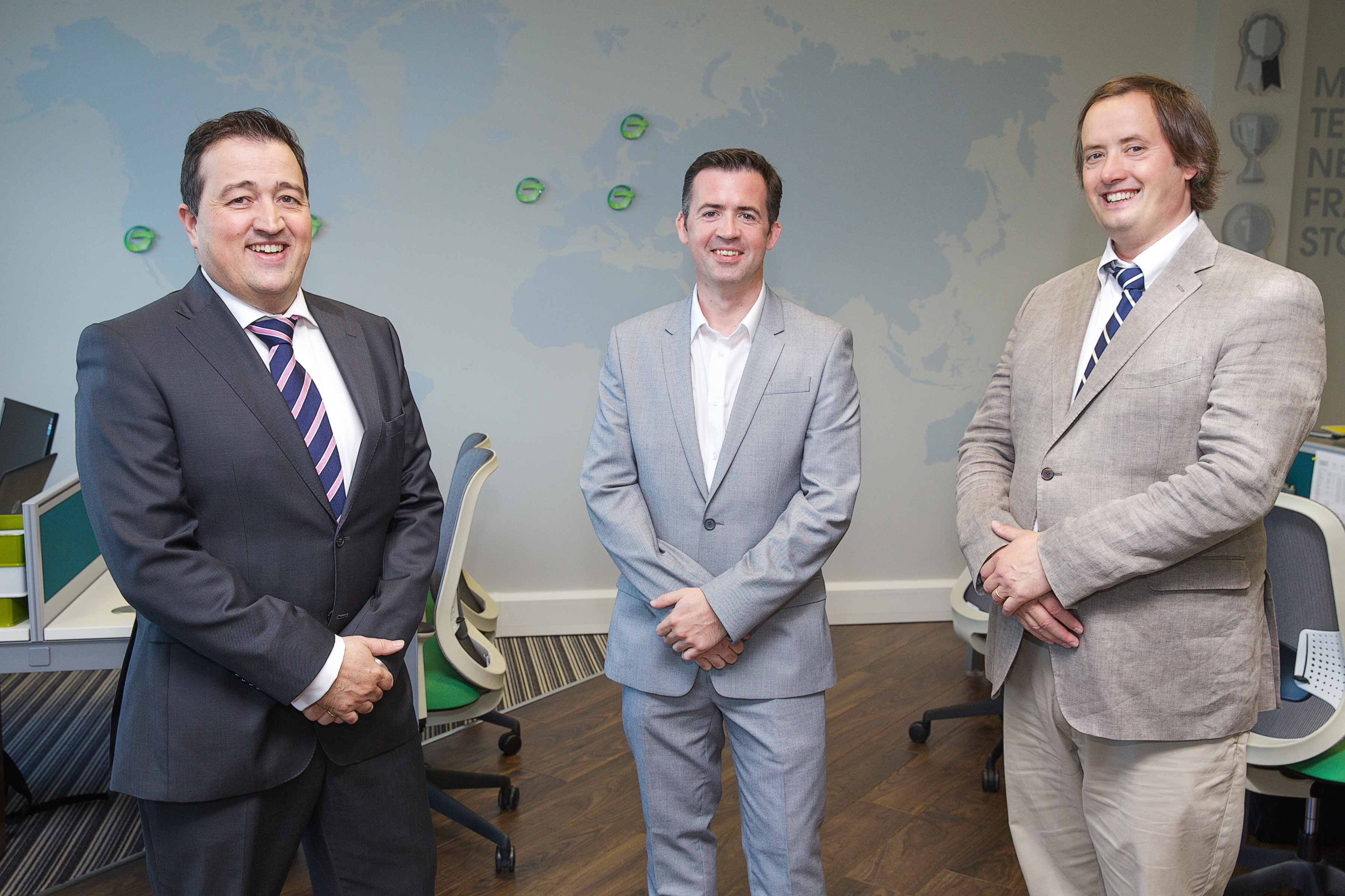 (L-R) Dennis Nordon, Managing Director - David O'Coimin, Global Business Development Director - Clive Gilmore, Chief Executive Officer
