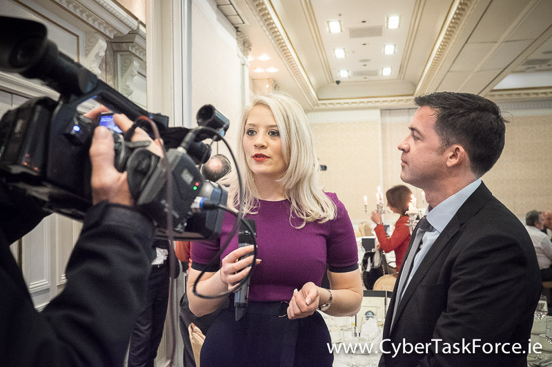 David O'Coimin being interviewed by Bronagh Lyons, Director of Operations at Cyber Risk International