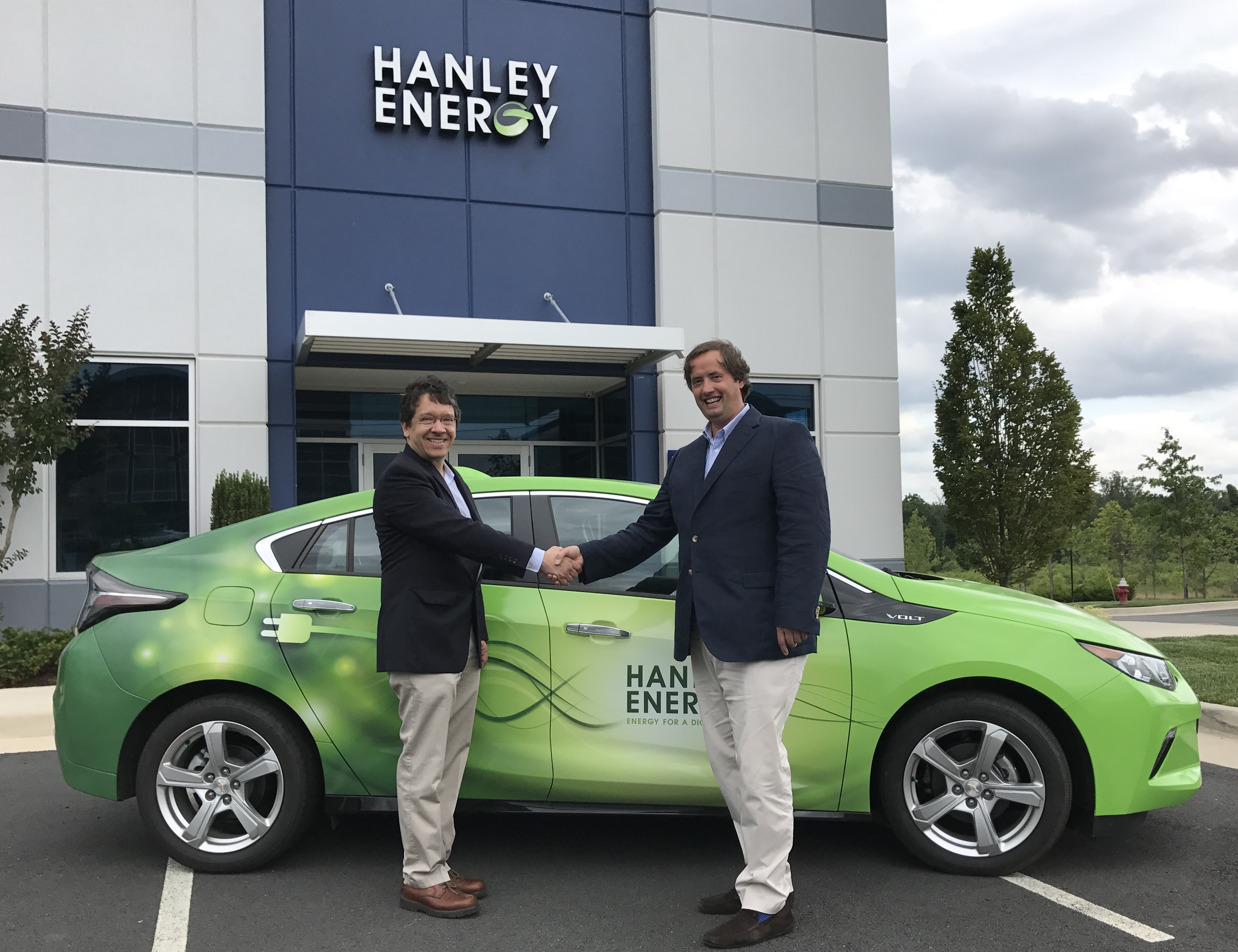 Mike Baris, President Hanley Energy LLC and Clive Gilmore, Co-founder and CEO.
