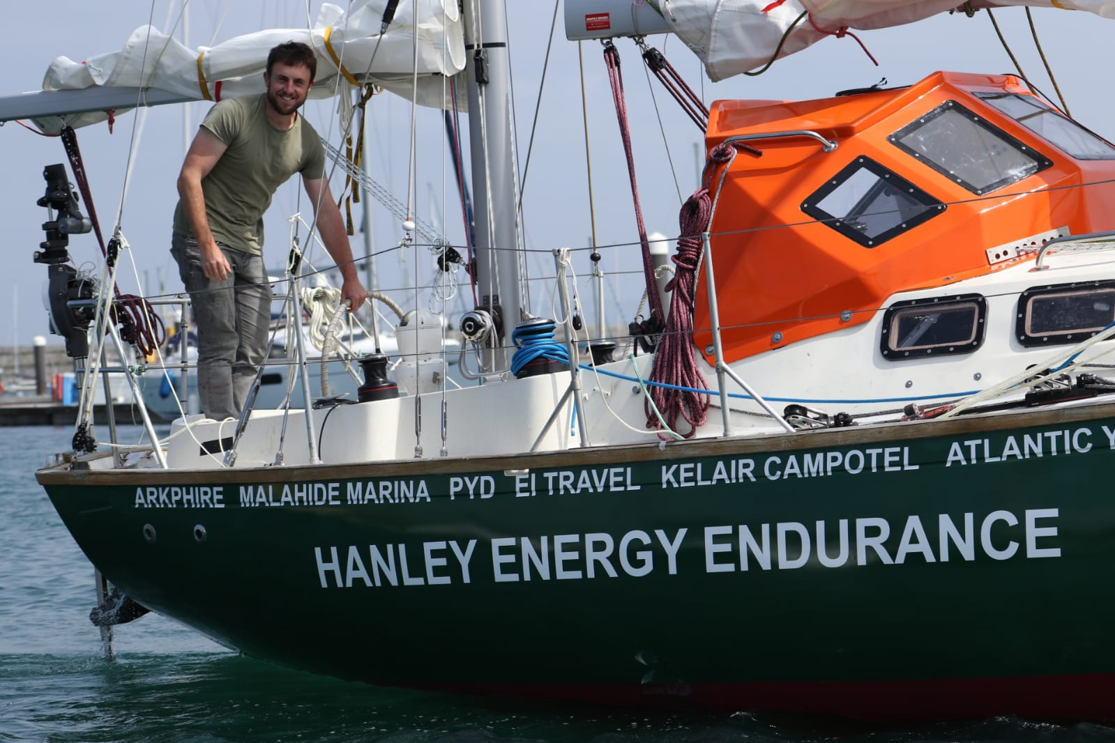 Irish solo sailer, Gregor McGuckin preparing for the Golden Globe race with Hanley Energy as headline sponsor