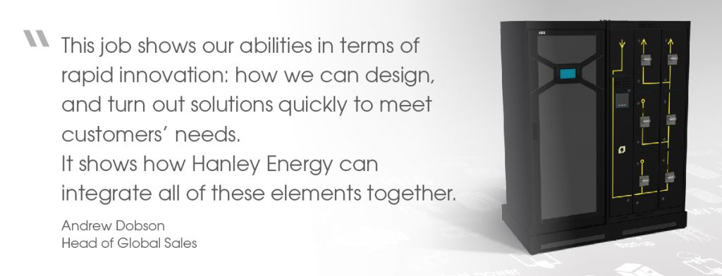 Quote from Andrew Dobson, Head of Global Sales at Hanley Energy, on modular power skid