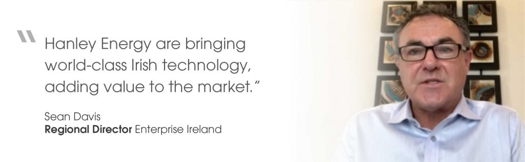 Quote from Sean Davis, Regional Director at Enterprise Ireland, on virtual opening of Oregon office