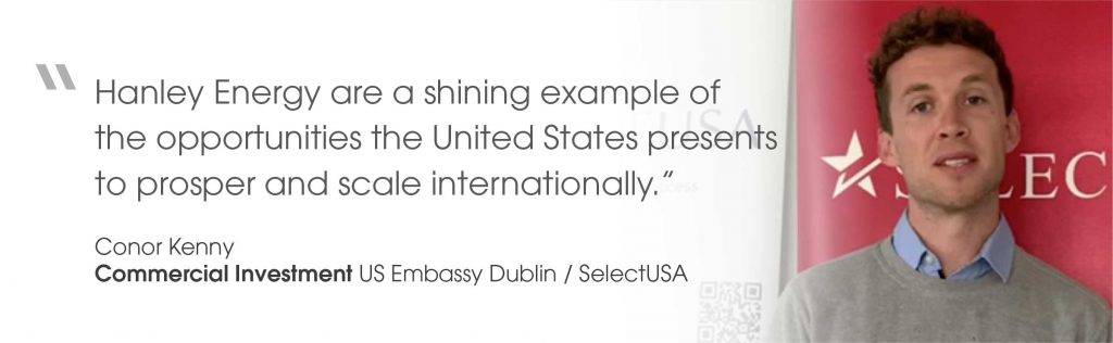 Quote from Conor Kenny from US Embassy Dublin/Select USA on virtual opening of Oregon office