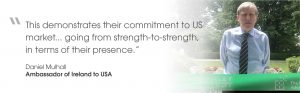 Quote from Ambassador of Ireland to USA, Daniel Mulhall, on virtual opening of Oregon office