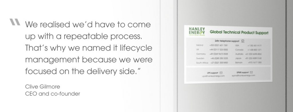 Quote from CEO and co-founder, Clive Gilmore, on the repeatable process of lifecycle management and focus on delivery side.
